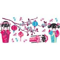 Oriental Doll - Girls Wall Decals - Walmart.com