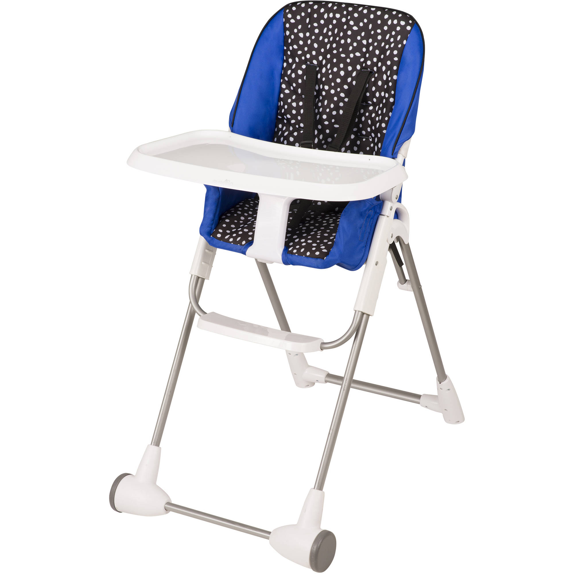 portable folding high chair graco glider new infant toddler symmetry flat fold hayden dot