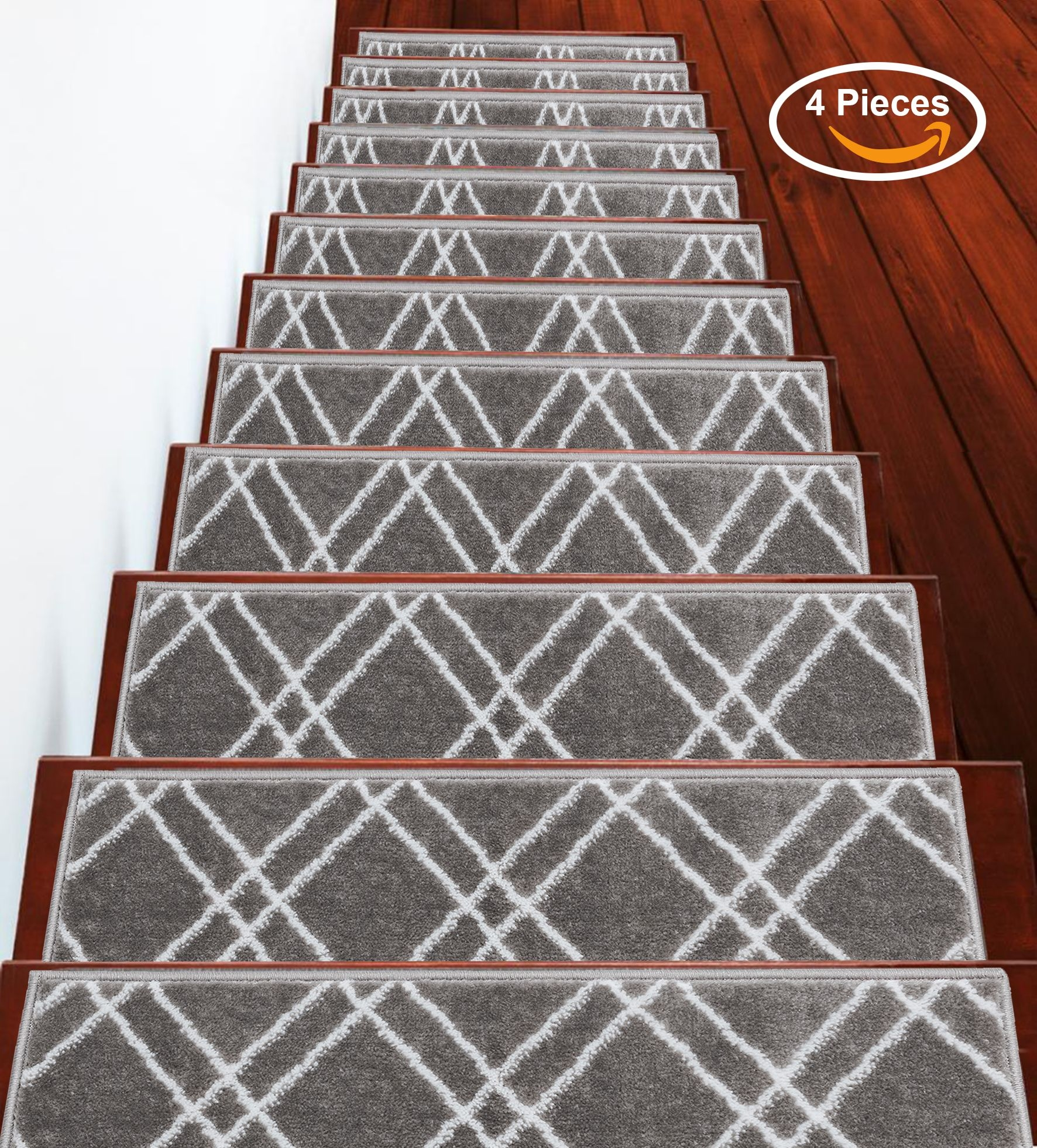 Sussexhome Stair Treads Stairs Slide Carpet Stair Tread Non   Washable Non Slip Stair Treads   Carpet Stair   Skid Resistant   Rubber Backing   Nova Morrocan Washable   Removable Washable