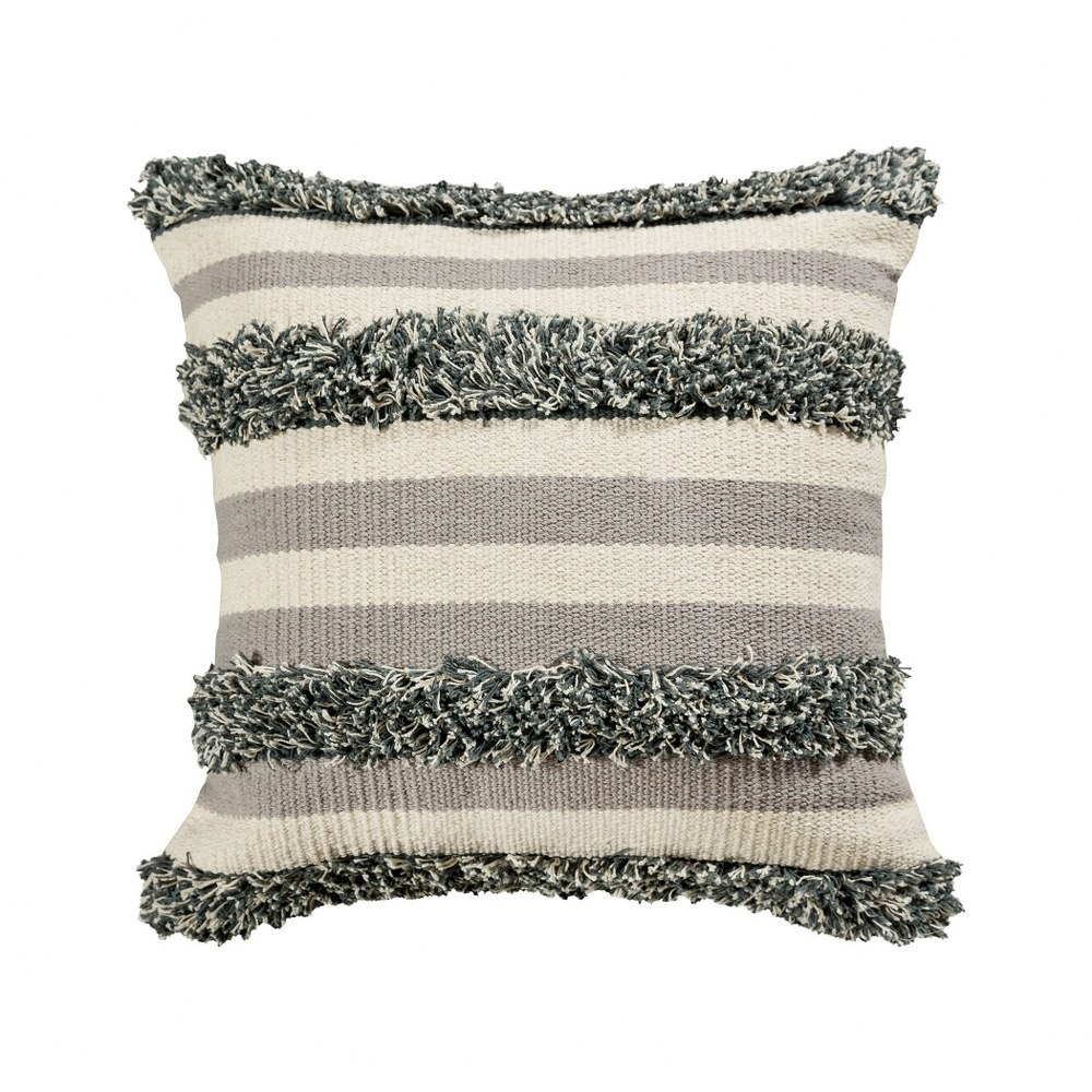 cream and grey textured pillow cover 20x20 inch pillow cover only mojave tan grey colors bailey