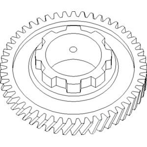 233997 New Pinion Shaft 3rd Gear Made To Fit Allis