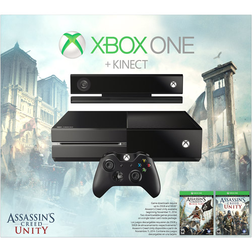 Xbox One With Kinect Assassin S Creed Unity Bundle 500gb