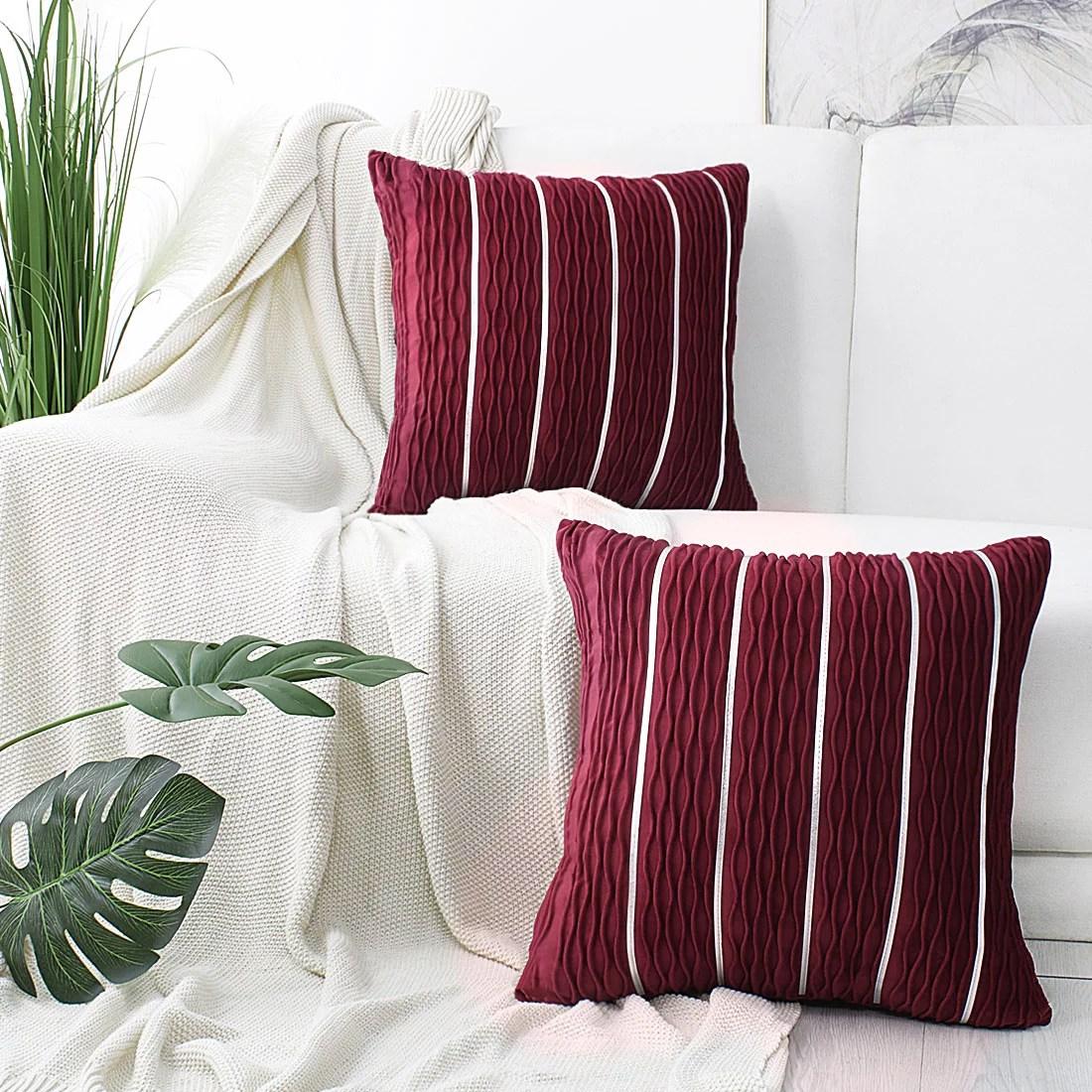 burgundy throw pillows walmart com