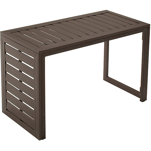 Cosco Outdoor Folding Metal Slat C Table  Walmartcom
