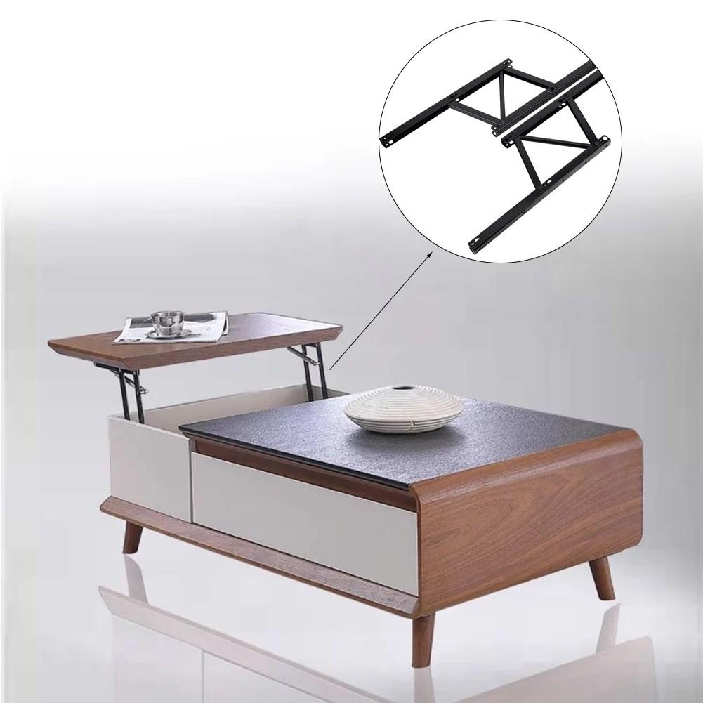 garosa home accessories 2pcs iron metal folding coffee table desk lifting bracket home accessories