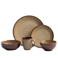 Sango Nova Brown Stoneware Dinnerware Set 40 Piece ...