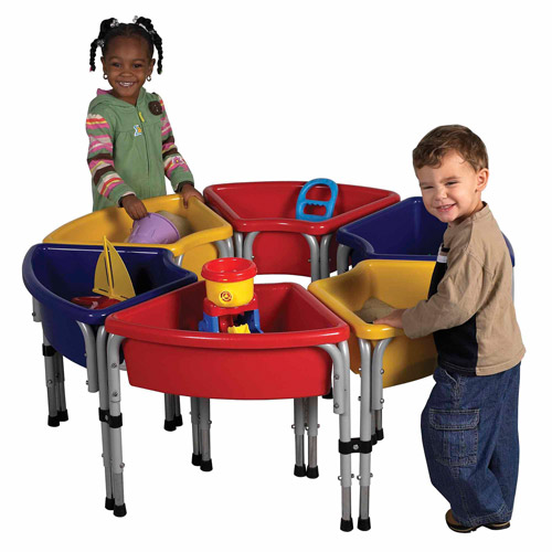 Ecr4kids 2 Station Sq Sand Amp Water Play Table W Lids