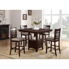 High Chair That Attaches To Counter Sand Bag Red Barrel Studio Doster 5 Piece Height Solid Wood Dining Set Walmart Com
