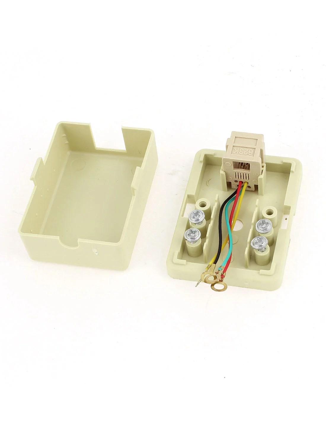 hight resolution of wall mount keystone single port telephone phone jacks 6p4c rj11 walmart canada