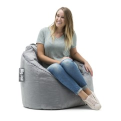 Big Joe Bean Bag Chair Multiple Colors 33 X 32 25 Covers For Hire Roodepoort Milano Soft Gray Plush Ebay