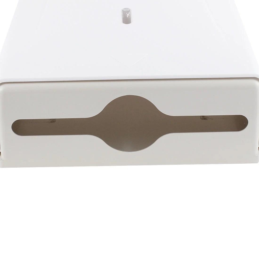 Restaurant Public Plastic Wall Mounted Paper Tissue Box Holder White
