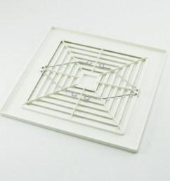 broan nutone 97011723 bath bathroom ceiling fan grille grill cover plastic white walmart com [ 2000 x 2000 Pixel ]