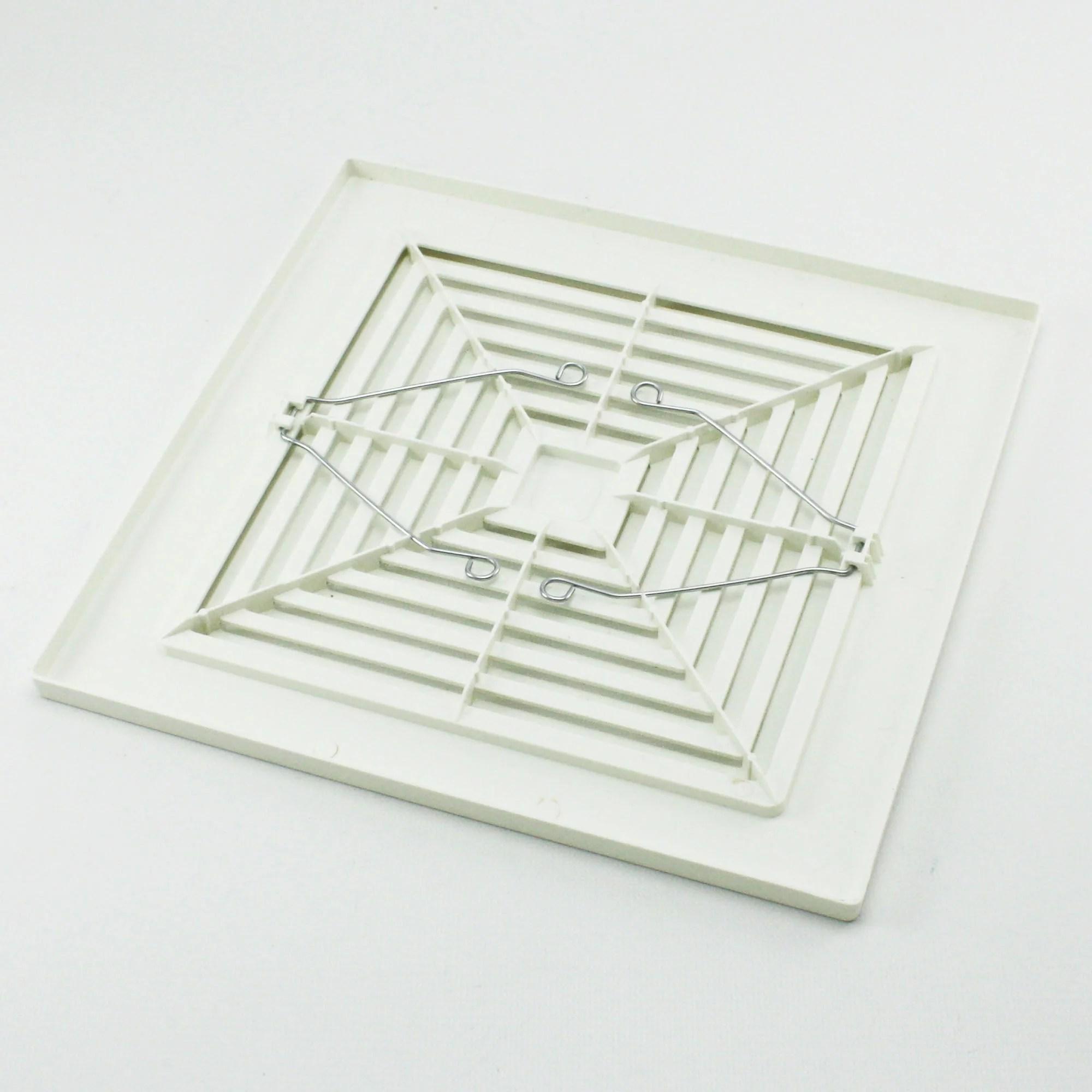 hight resolution of broan nutone 97011723 bath bathroom ceiling fan grille grill cover plastic white walmart com