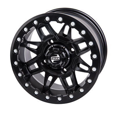 4/115 Wasatch Beadlock Wheel 14×7 5.0 + 2.0 Matte Black for Arctic Cat PROWLER 650 4X4 AUTOMATIC 2008