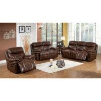 Abbyson Living Riley 3 Piece Premium Top Grain Leather ...