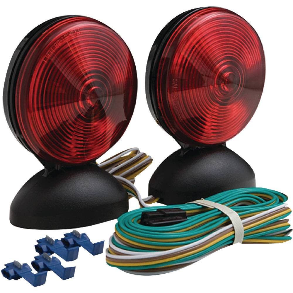 medium resolution of optronics tl22rk magnet mount towing light kit includes 20 wishbone style wiring harness walmart com