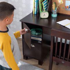 Study Desk And Chair Threshold Secretary Kidkraft Kids With Corkboard White Or Espresso Walmart Com