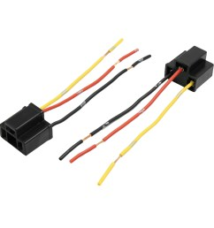 6pcs dc12v plastic black female wire adapter h4 car headlight wiring harness sockets [ 2000 x 2000 Pixel ]