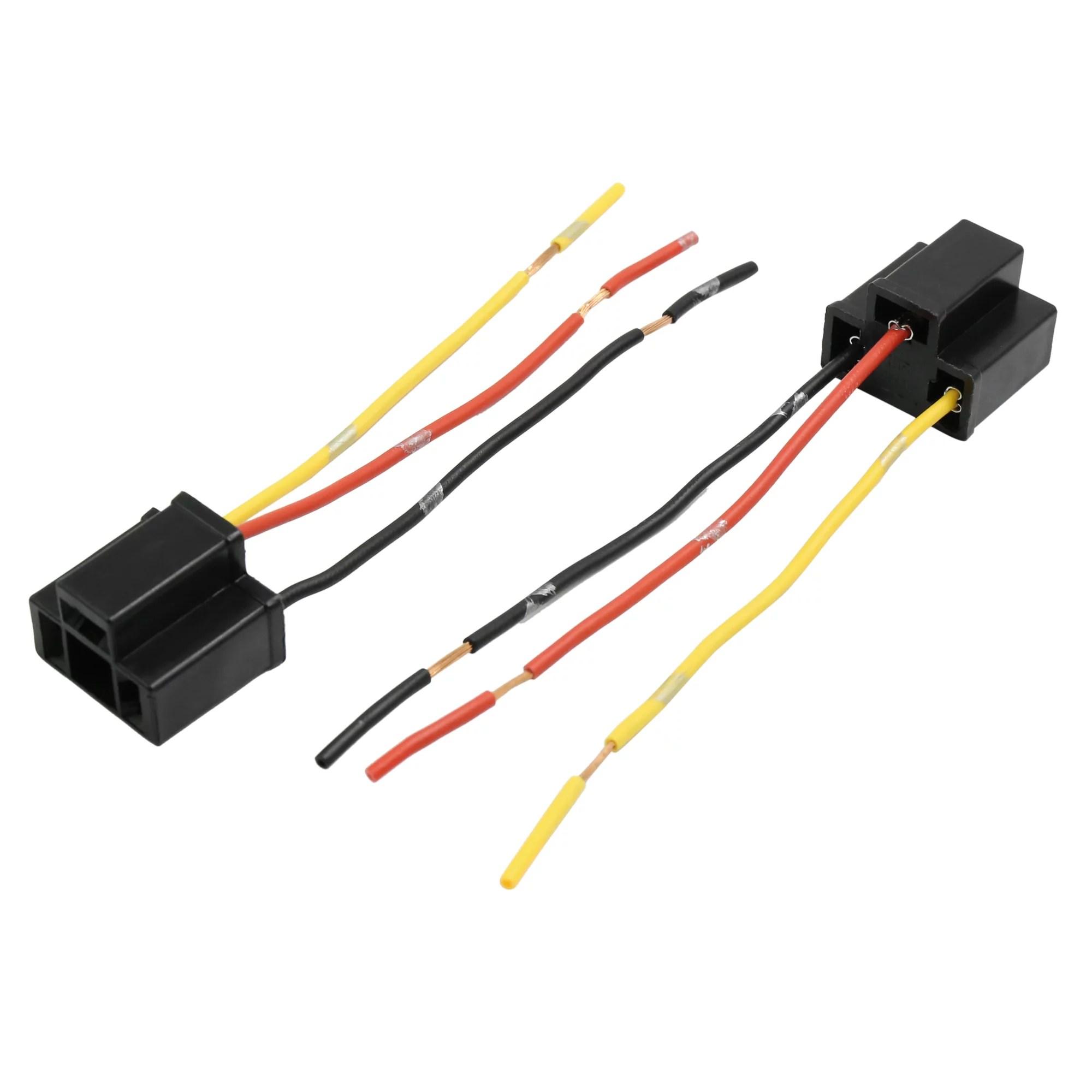 hight resolution of 6pcs dc12v plastic black female wire adapter h4 car headlight wiring harness sockets
