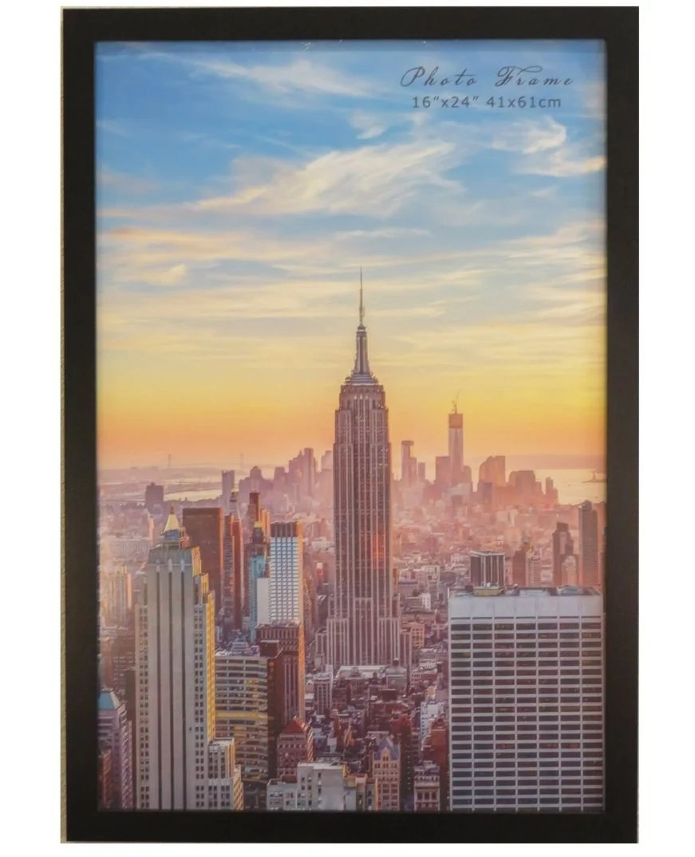 frame amo 16x24 black wood picture or poster frame 1 inch wide border walmart com