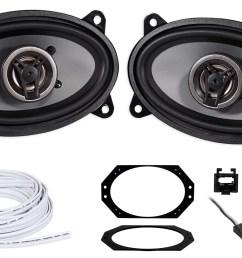 crunch 4x6 front factory speaker replacement harness for jeep wrangler tj 97 02 walmart com [ 1700 x 1083 Pixel ]