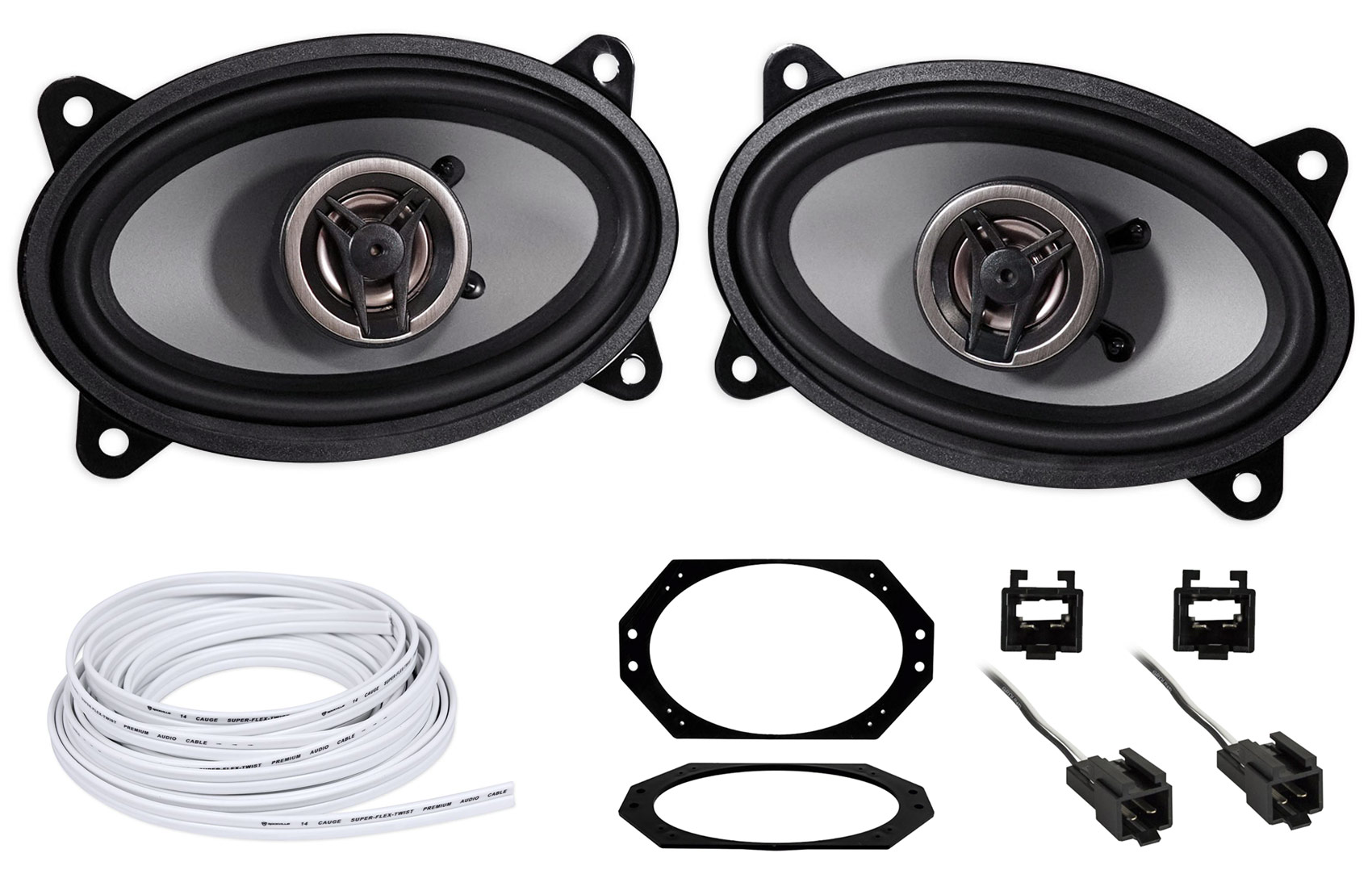 hight resolution of crunch 4x6 front factory speaker replacement harness for jeep wrangler tj 97 02 walmart com