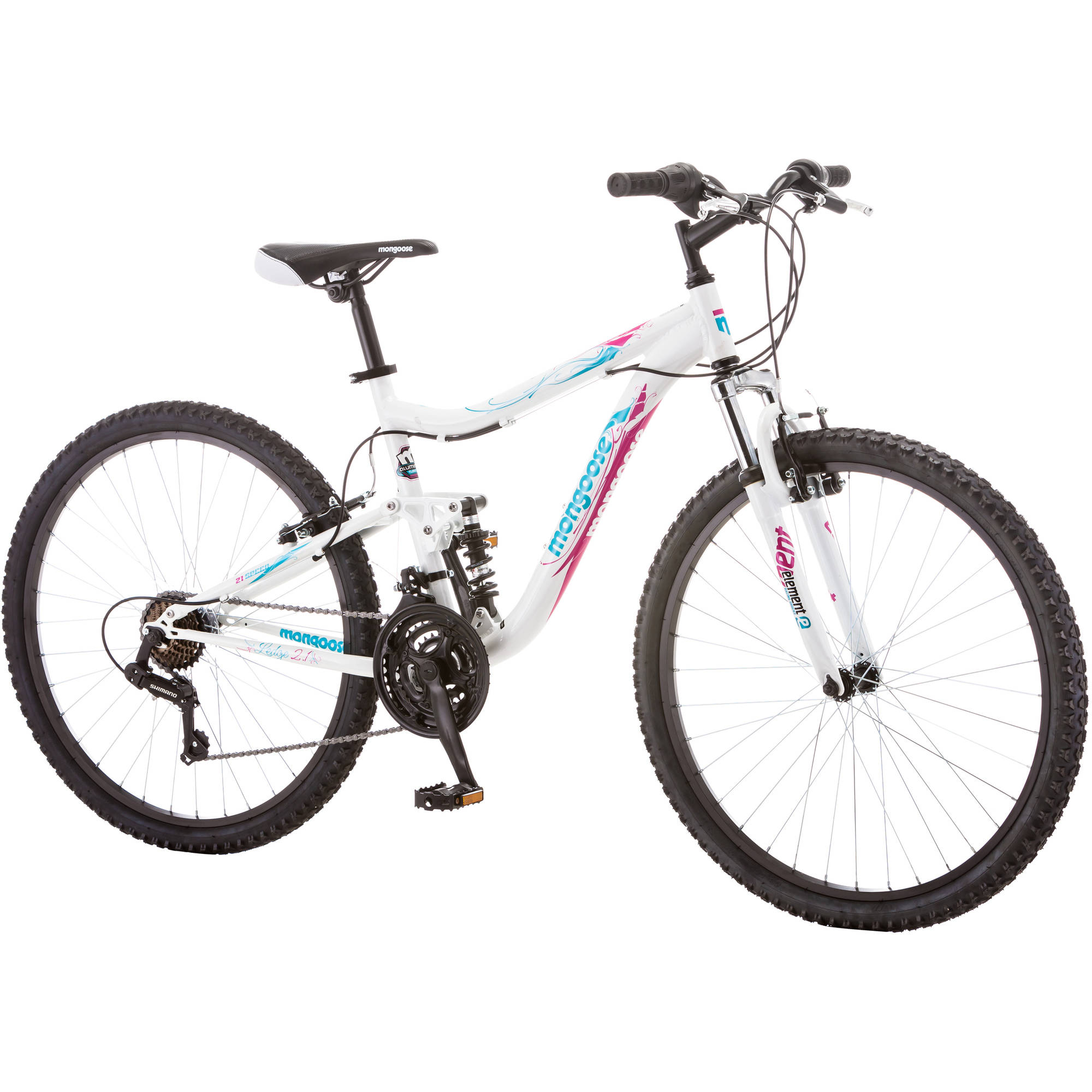 26 Mongoose Ledge 2 1 Women S Mountain Bike White Purple