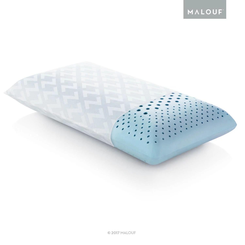 z zoned dough gel memory foam pillow low loft plush