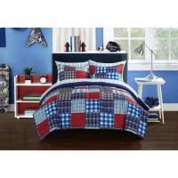 Mainstays Kids Mad Plaid Blue Bed in a Bag Bedding Set ...