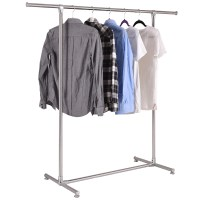 Costway Heavy Duty Stainless Steel Garment Rack Clothes