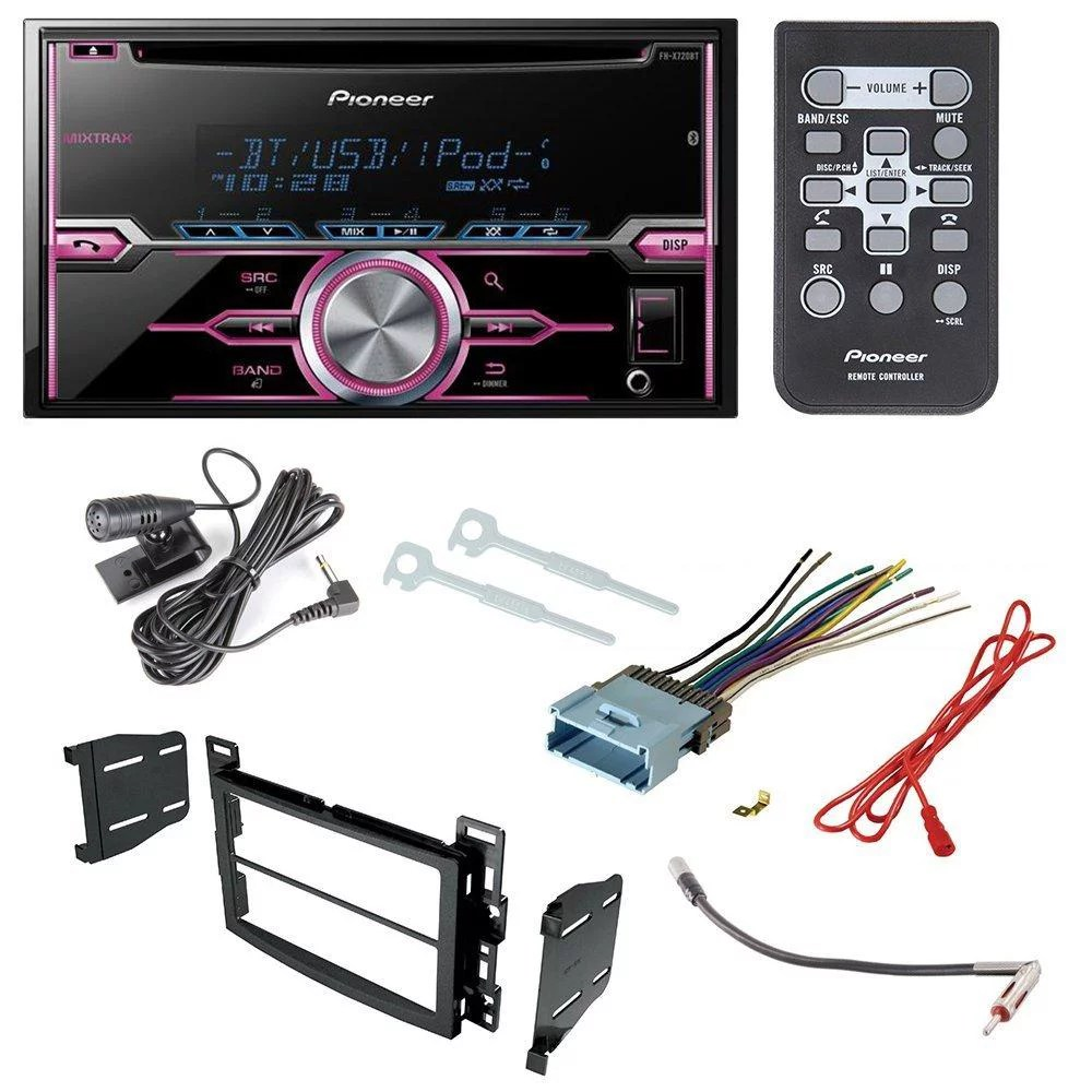 small resolution of pioneer fh x720bt aftermarket car radio receiver stereo cd player pioneer fh x700bt wiring harness adapter for gm