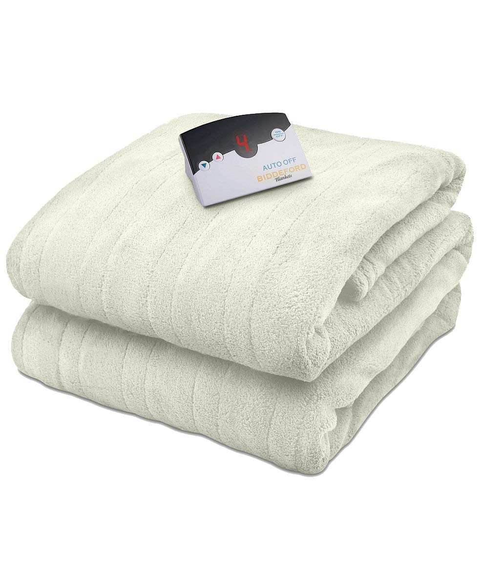 Biddeford Microplush Heated Electric King Blanket Cream - Walmart.com
