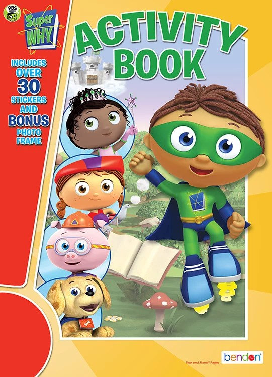Bendon Publishing Pbs Kids Super Why Coloring Activity Book With Stickers Walmart Com Walmart Com