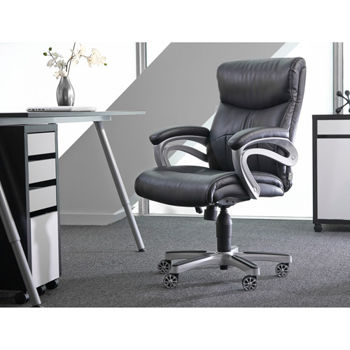 Sealy Posturepedic Office Chair Fixed Arm Chair Black