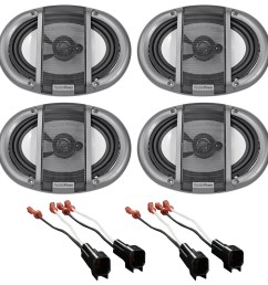 2007 ford mustang precision front rear factory speaker replacement kit harness walmart com [ 1694 x 1700 Pixel ]