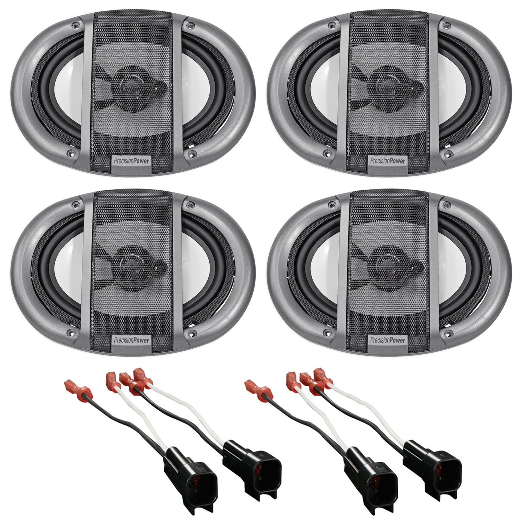 hight resolution of 2007 ford mustang precision front rear factory speaker replacement kit harness walmart com