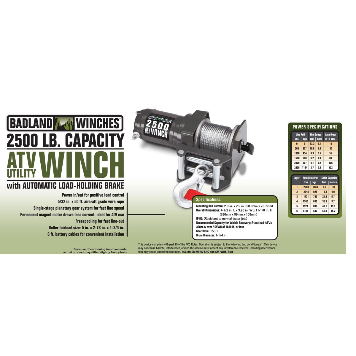 hight resolution of badland electric winch 2500 lb atv utility wireless remote control 61840 walmart com