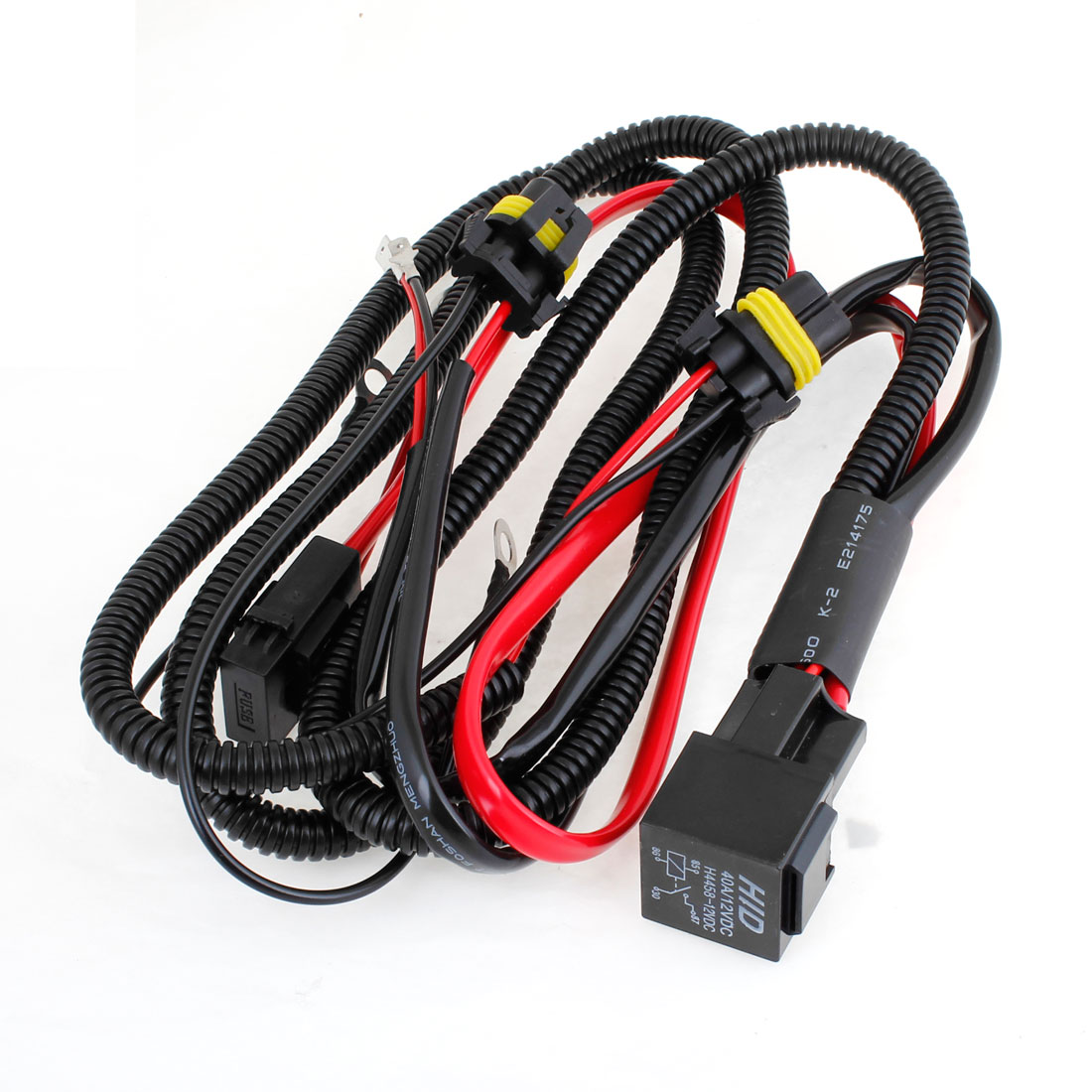 unique bargains light wiring harness relay switch offroad fog driving lamp led hid xenon h1 40a [ 1100 x 1100 Pixel ]