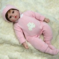 Reborn Baby Girl Doll 20 inches - Weighted baby - Lifelike ...