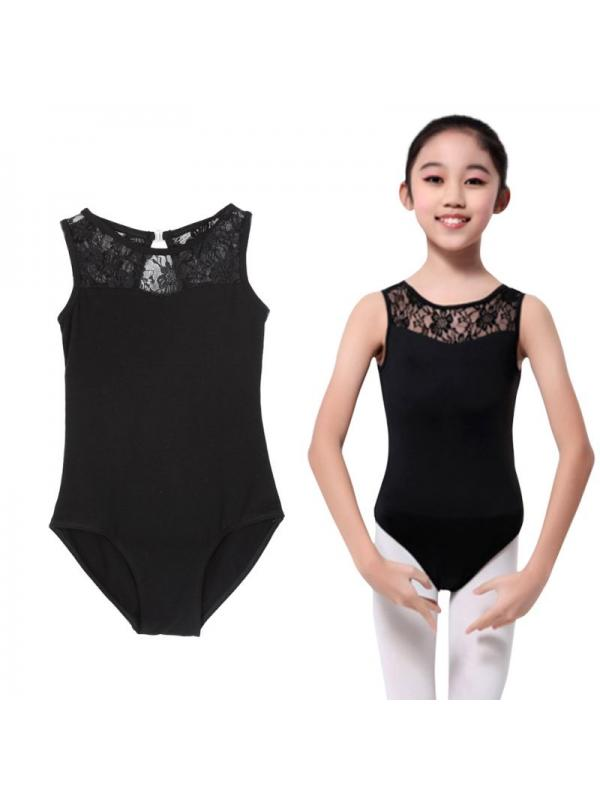 MarinaVida Girls Kids Lycra Lace Bodysuit Dance Leotard