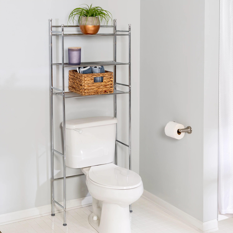 honey can do steel space saver rack with 3 shelves chrome walmart com
