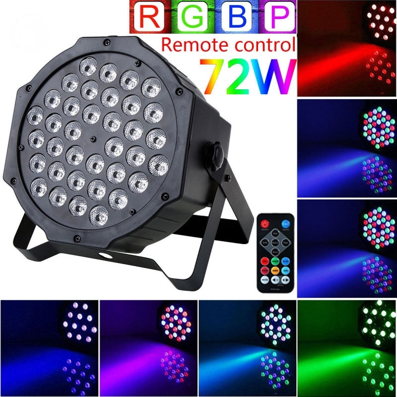 vgeby stage lights 36 led 72w par lights by remote and dmx control for dj show church wedding stage lighting