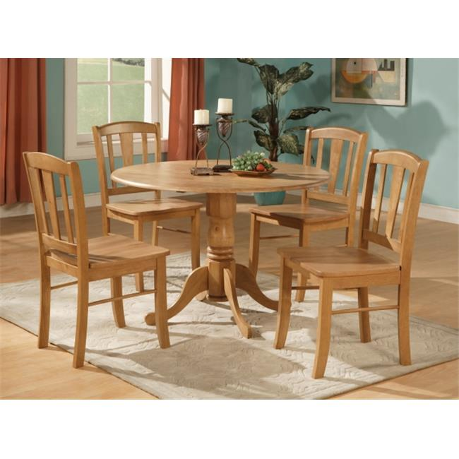 East West Furniture Dlin5 Oak W 5 Piece Small Kitchen Table And Chairs Set Round Table And 4 Dinette Chairs Chairs Walmart Com Walmart Com