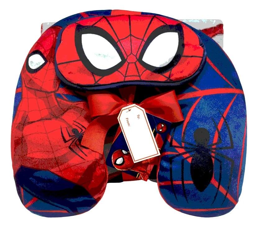 spiderman 3 piece kids travel set w eye mask neck pillow throw blanket walmart com