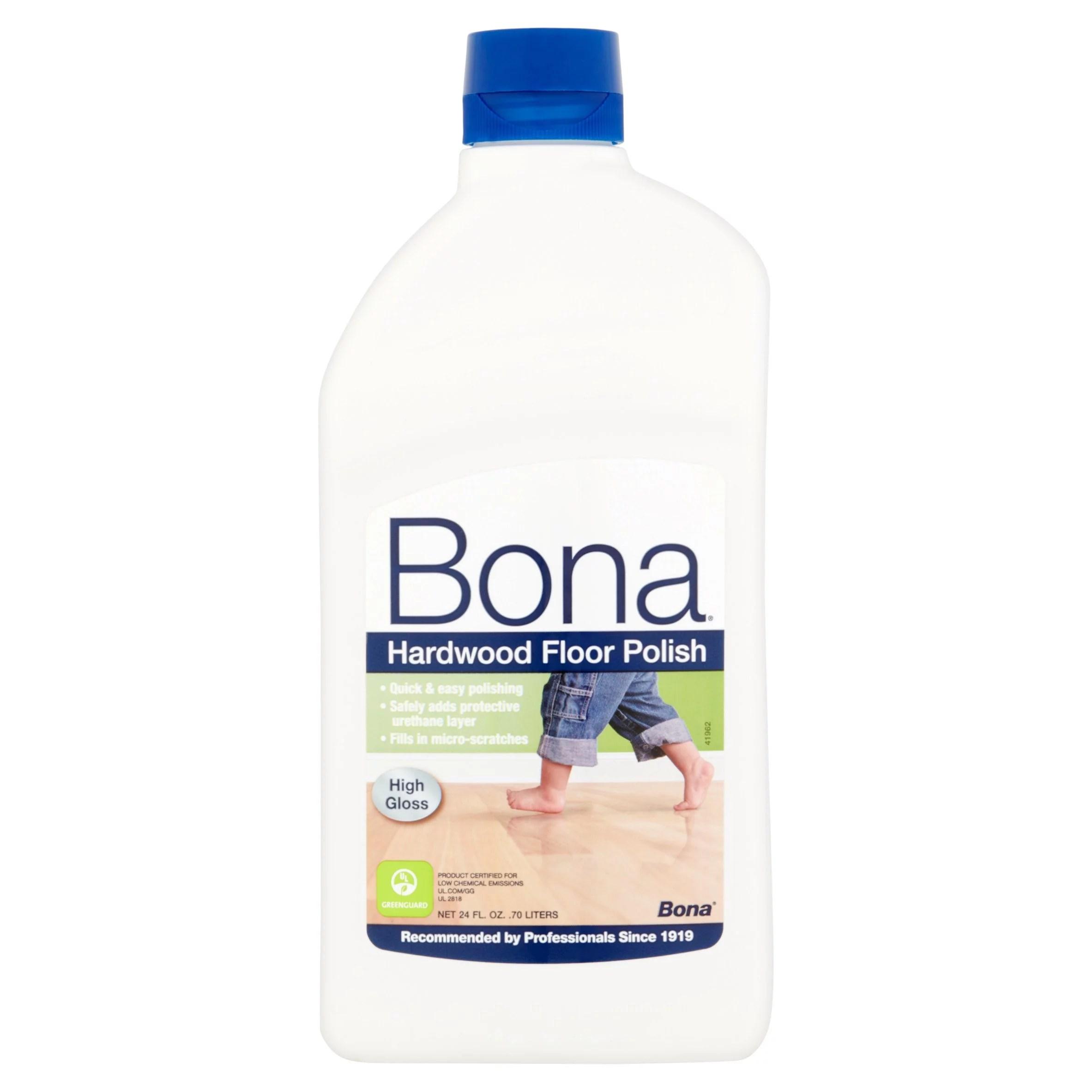 Bona Hardwood Floor Polish 24oz  High Gloss  Walmartcom