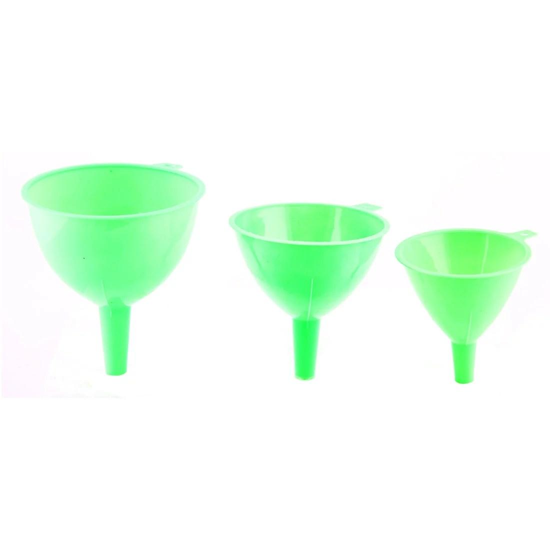 kitchen funnel cabinet cost plastic transfer oil water vinegar liquid filter green 3 in 1