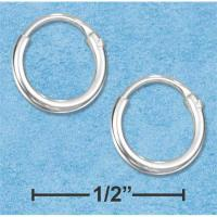 Sterling Silver 8mm Endless Wire Hoop Earrings - Walmart.com