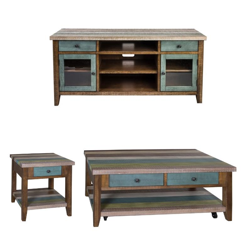 3 piece coffee table set with 60 inch tv stand and end table walmart com