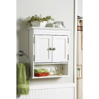 Better Homes and Gardens Cottage Wall Cabinet, White ...