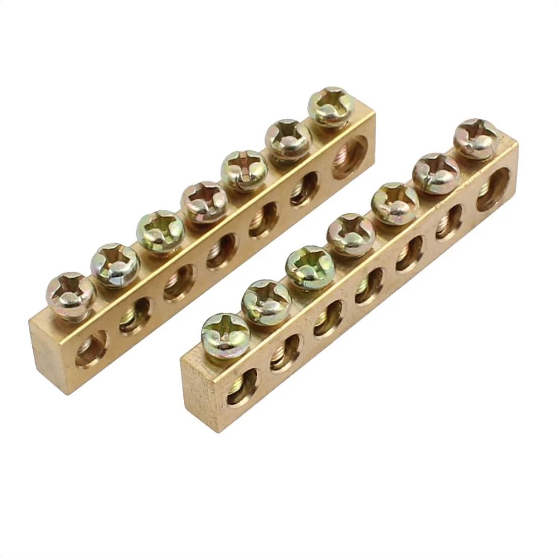 2pcs 6 10 wire connection screw terminal strip copper terminal 7 positions [ 1100 x 1100 Pixel ]